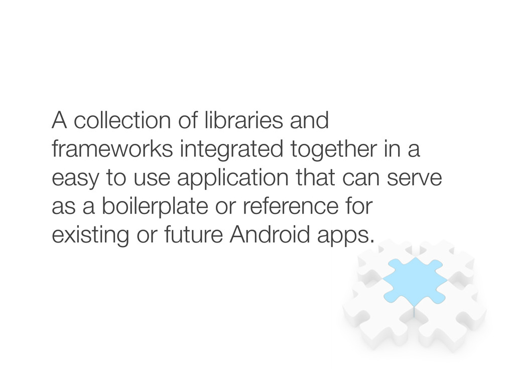 A collection of libraries and frameworks integr...