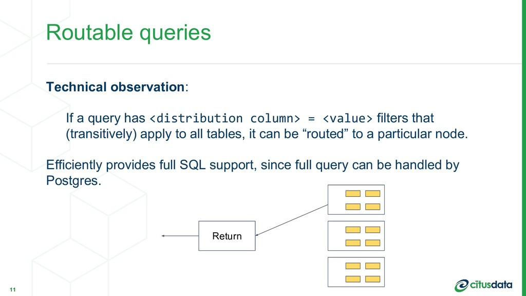 Routable queries Technical observation: If a qu...