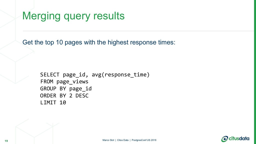 Get the top 10 pages with the highest response ...