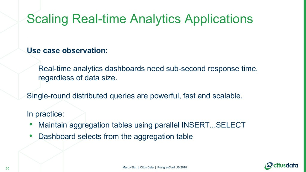 Use case observation: Real-time analytics dashb...