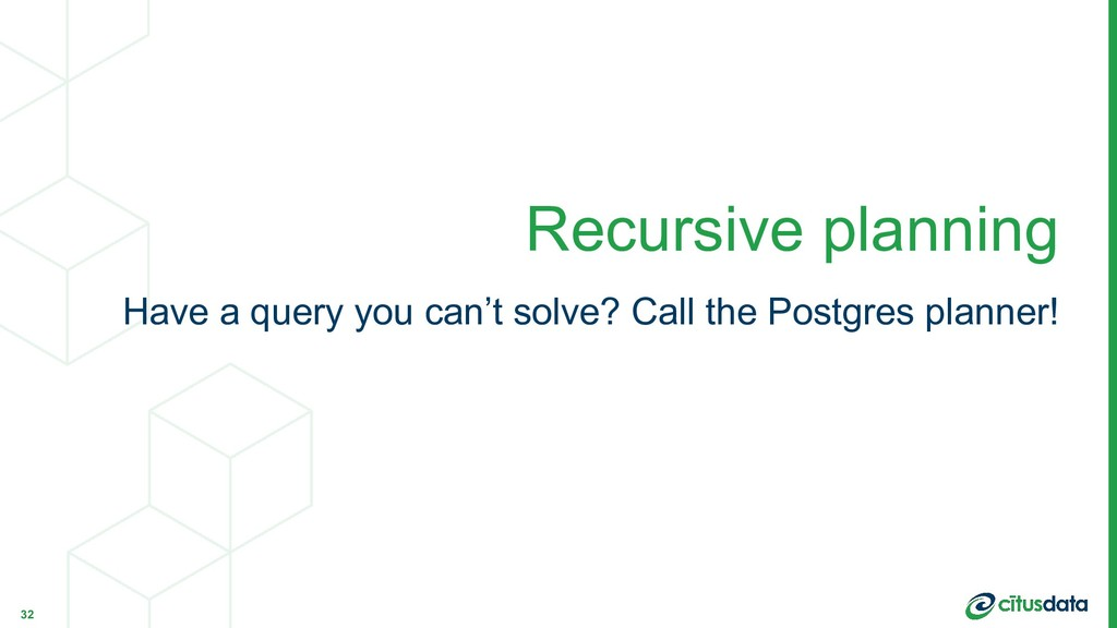 Have a query you can't solve? Call the Postgres...