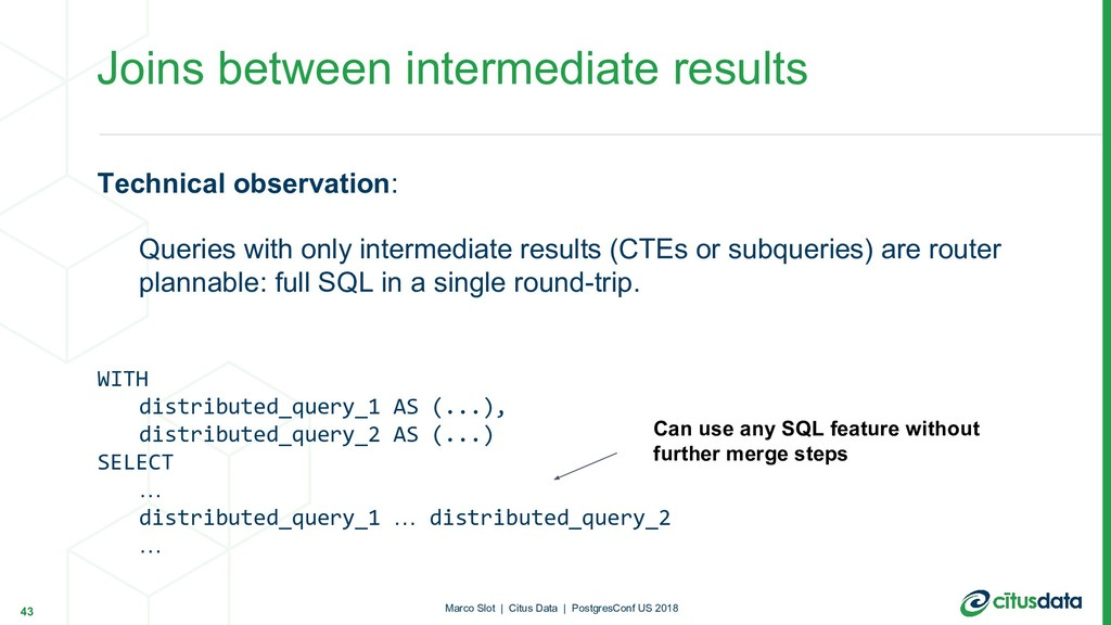 Technical observation: Queries with only interm...