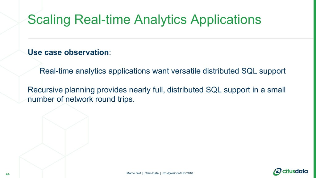 Use case observation: Real-time analytics appli...