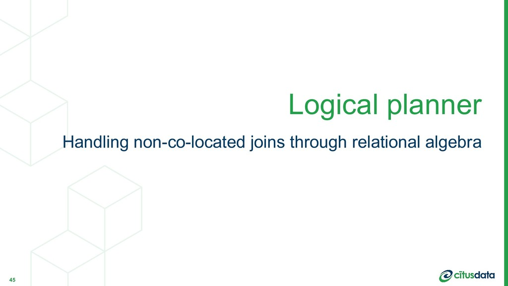 Handling non-co-located joins through relationa...