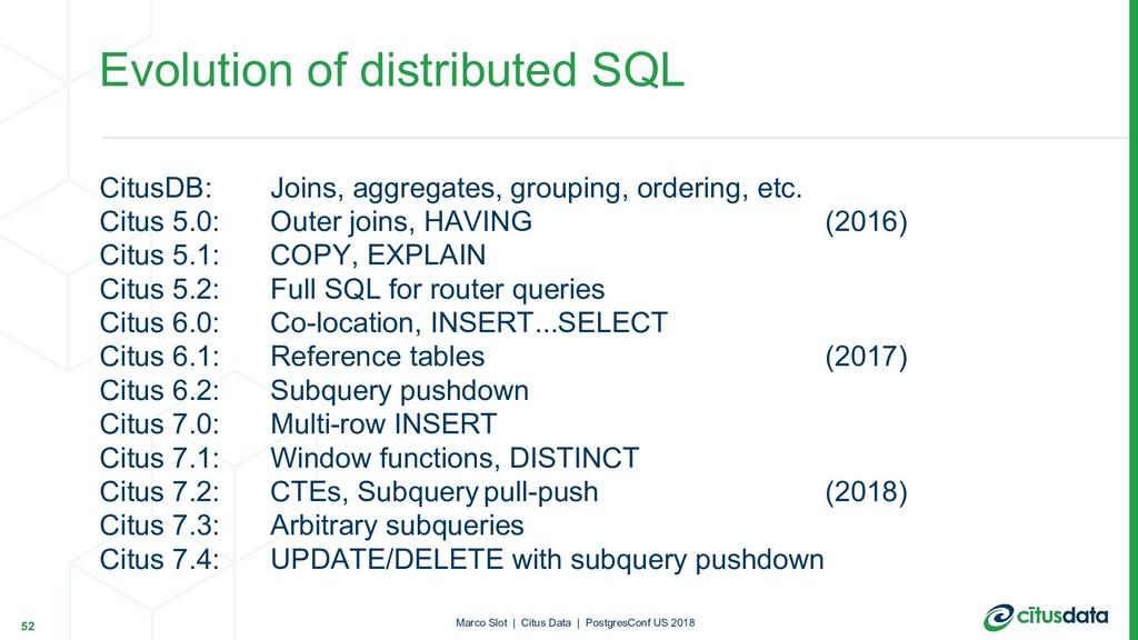 CitusDB: Joins, aggregates, grouping, ordering,...
