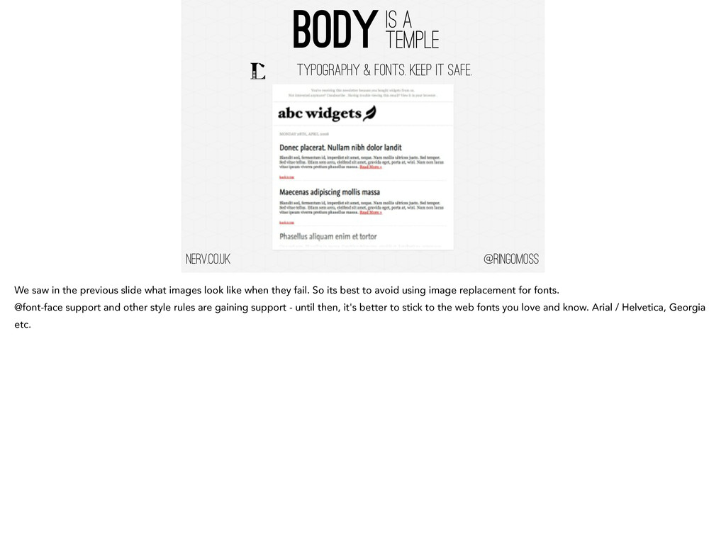 @ringomoss BODY IS A TEMPLE nerv.co.uk TYPOGRAP...