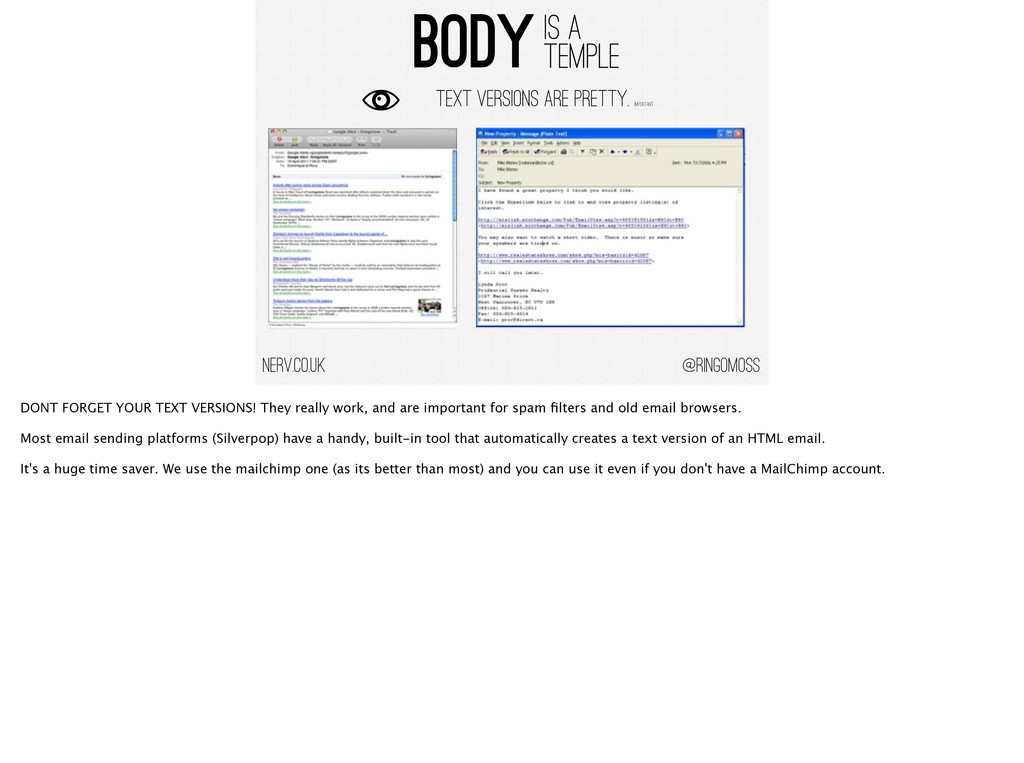 @ringomoss BODY IS A TEMPLE nerv.co.uk Text Ver...