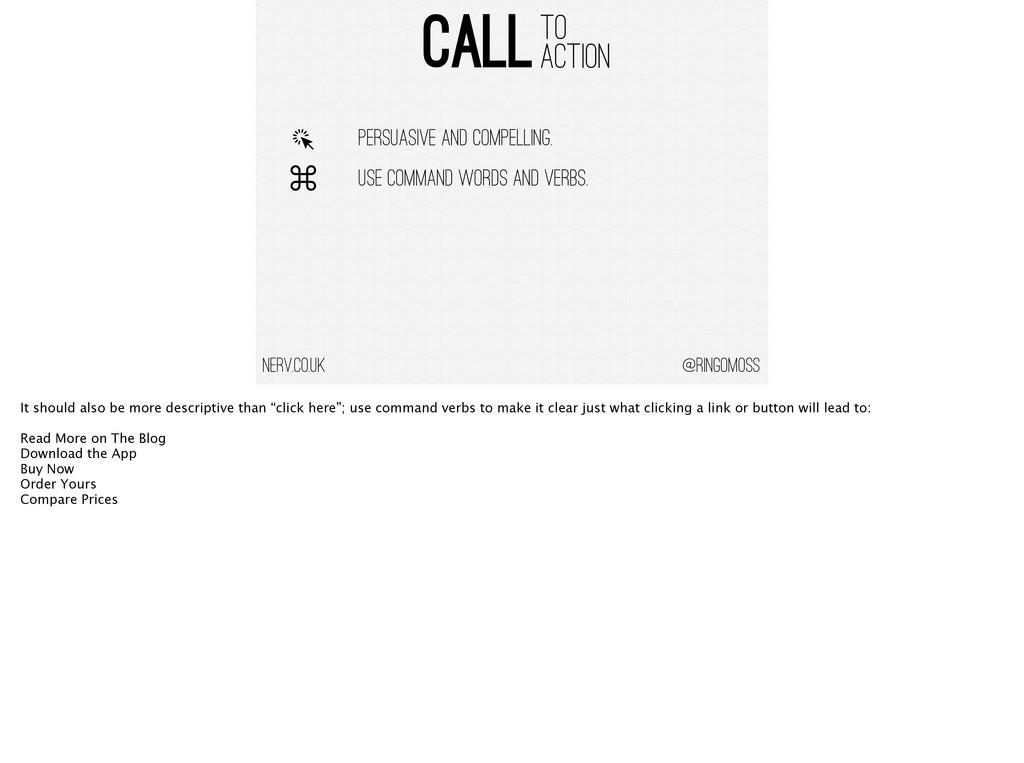 @ringomoss CALL TO ACTION nerv.co.uk PERSUASIVE...