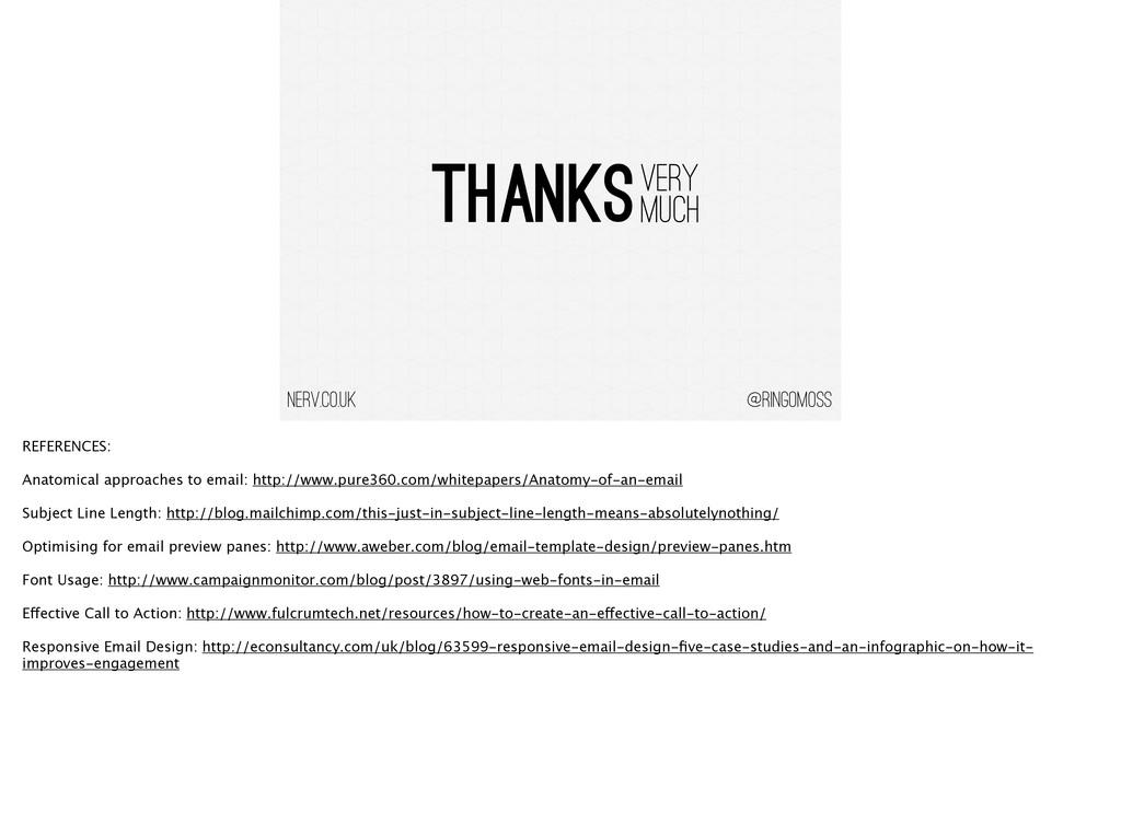 @ringomoss THANKS VERY MUCH nerv.co.uk REFERENC...