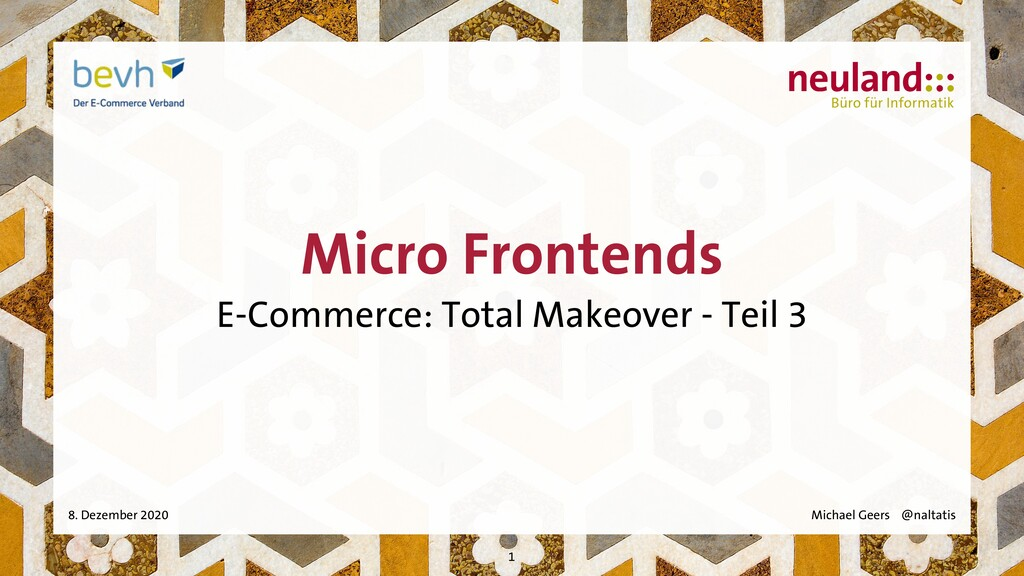 Micro Frontends E-Commerce: Total Makeover - Te...
