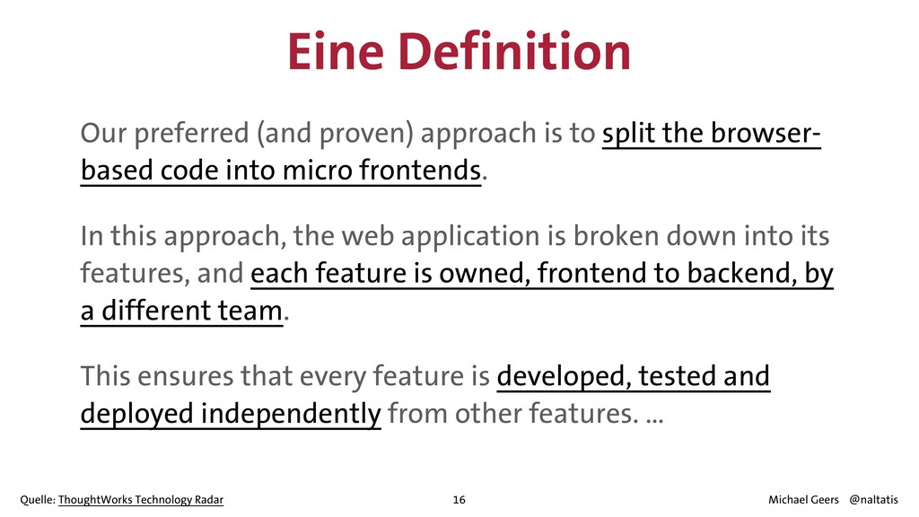 Eine Definition Our preferred (and proven) appr...