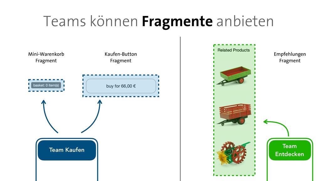 Teams können Fragmente anbieten Team   Entdecke...