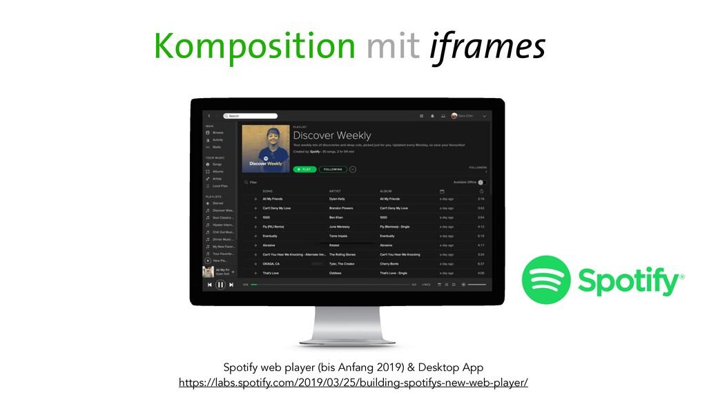 Spotify web player (bis Anfang 2019) & Desktop ...