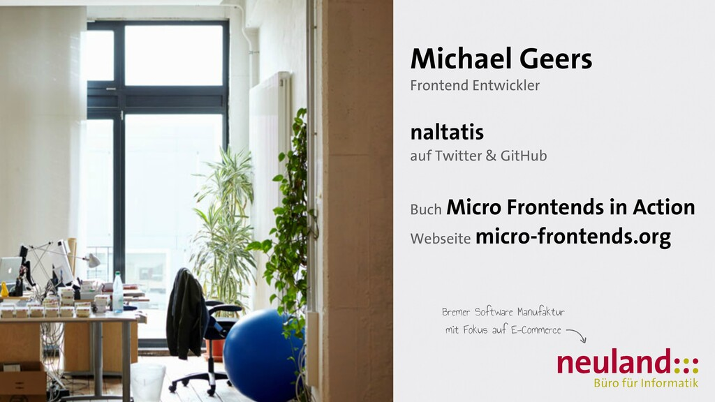 Michael Geers   Frontend Entwickler   naltatis ...