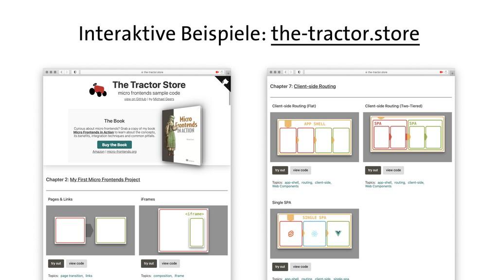 Interaktive Beispiele: the-tractor.store