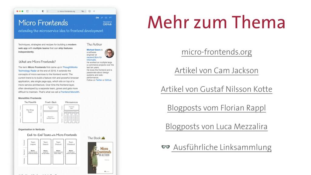 Mehr zum Thema micro-frontends.org   Artikel vo...