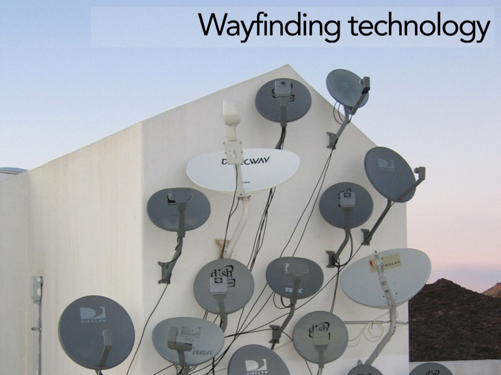 Wayfinding technology
