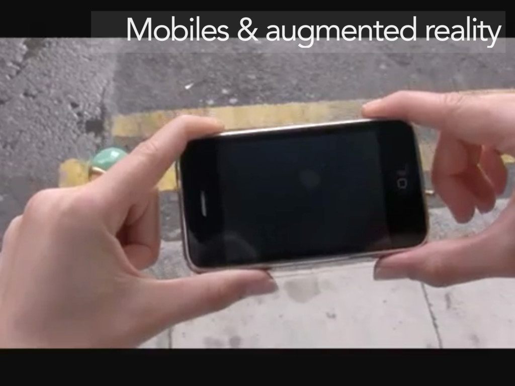 Mobiles & augmented reality