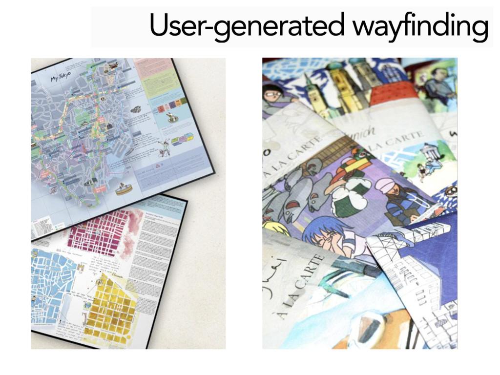 User-generated wayfinding