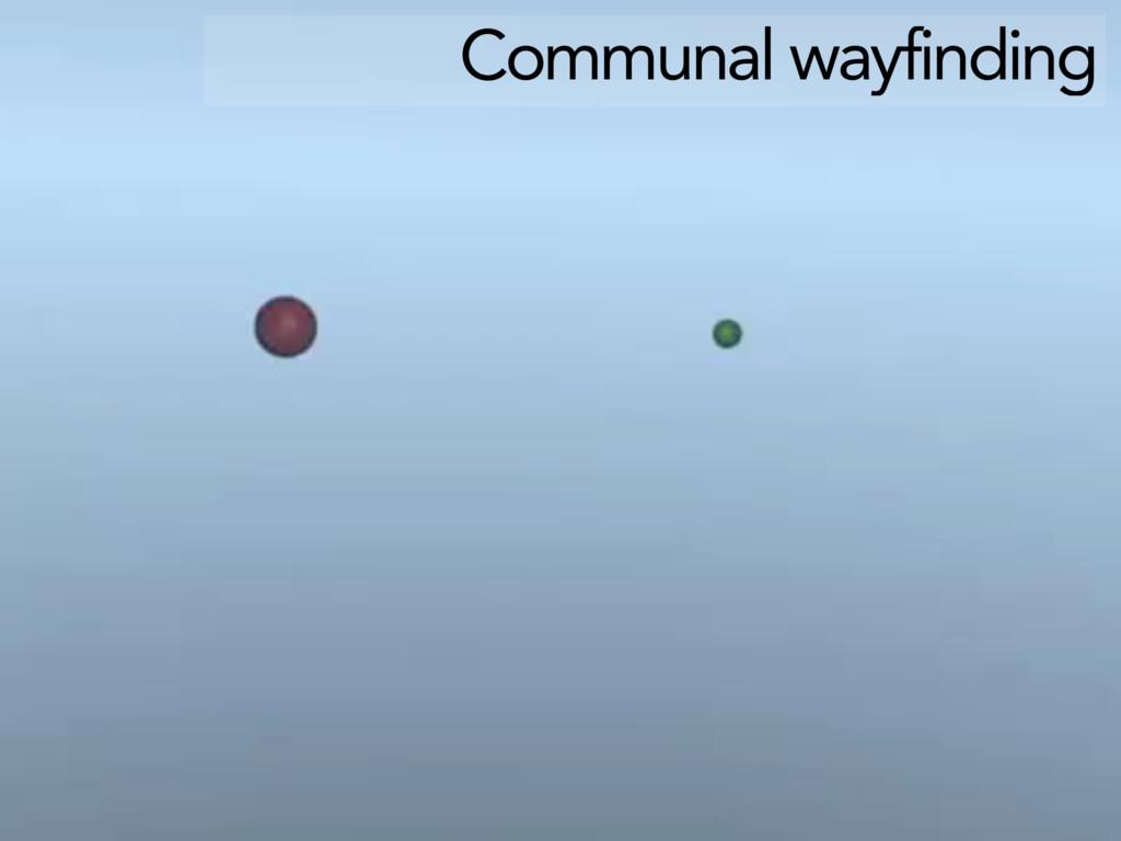 Communal wayfinding
