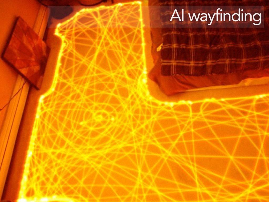 AI wayfinding