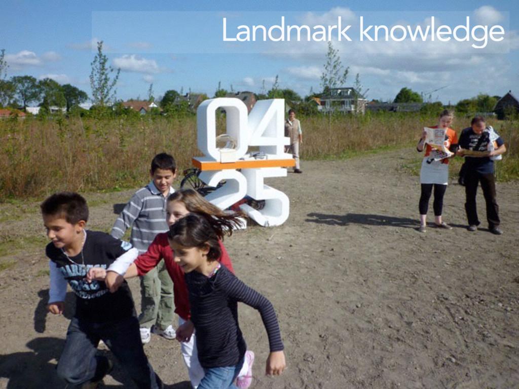 Landmark knowledge