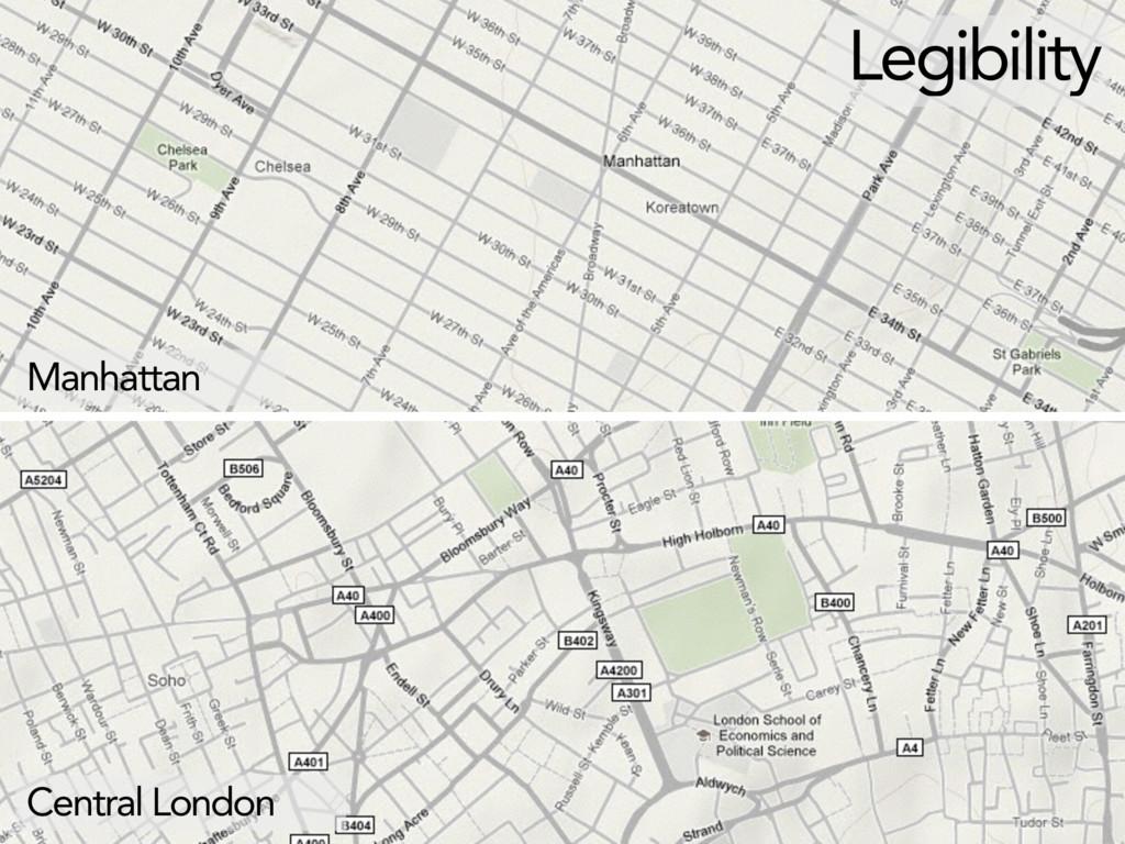 Legibility Manhattan Central London