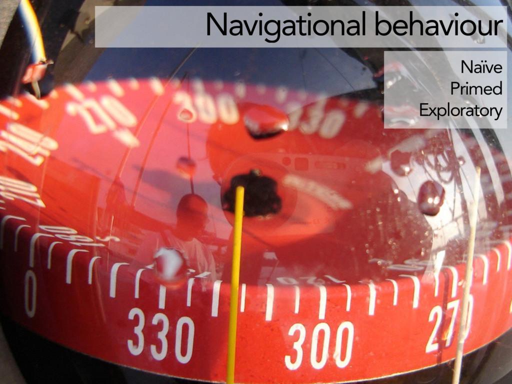 Naïve Primed Exploratory Navigational behaviour