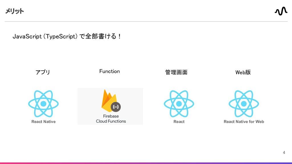 メリット JavaScript (TypeScript) で全部書ける!  Functio...