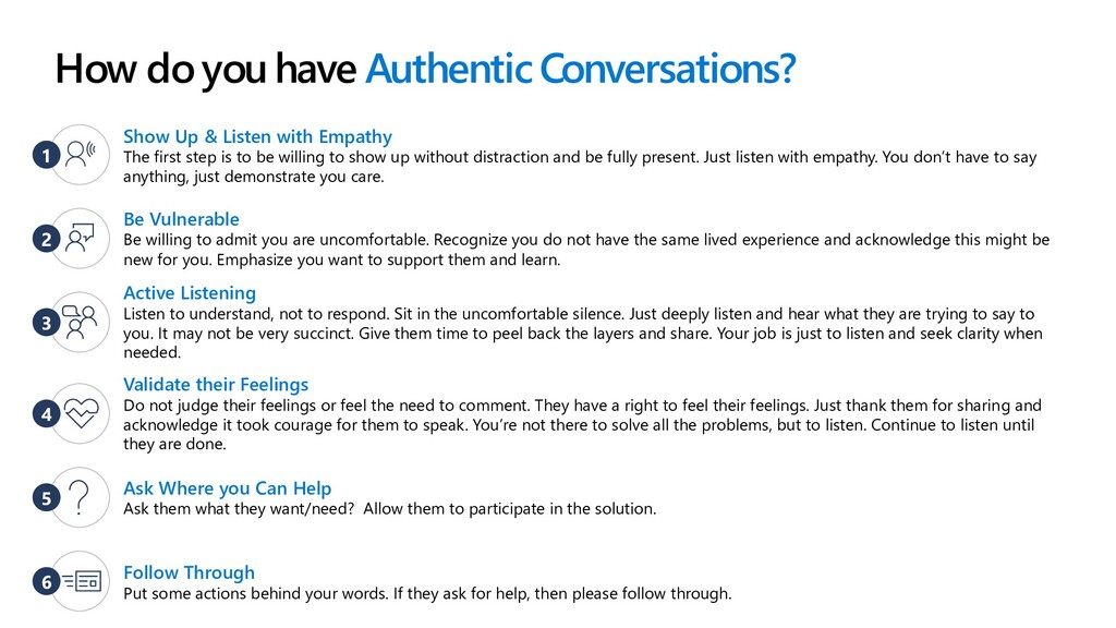 How do you have Authentic Conversations? Be Vul...