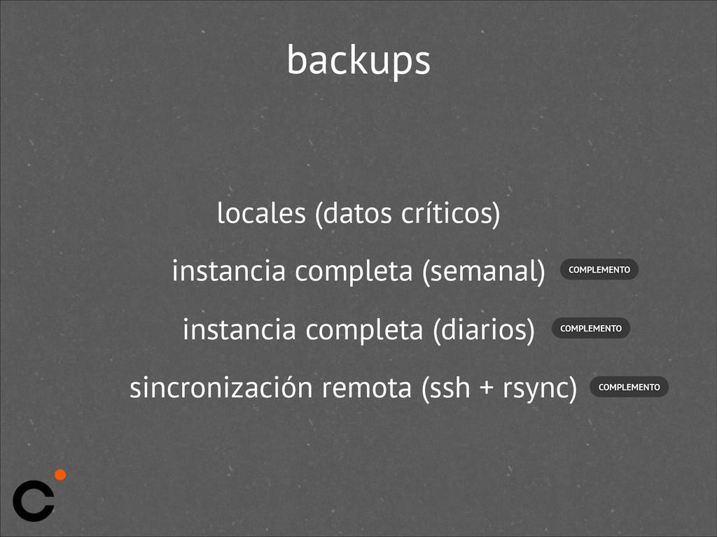 backups locales (datos críticos) instancia comp...