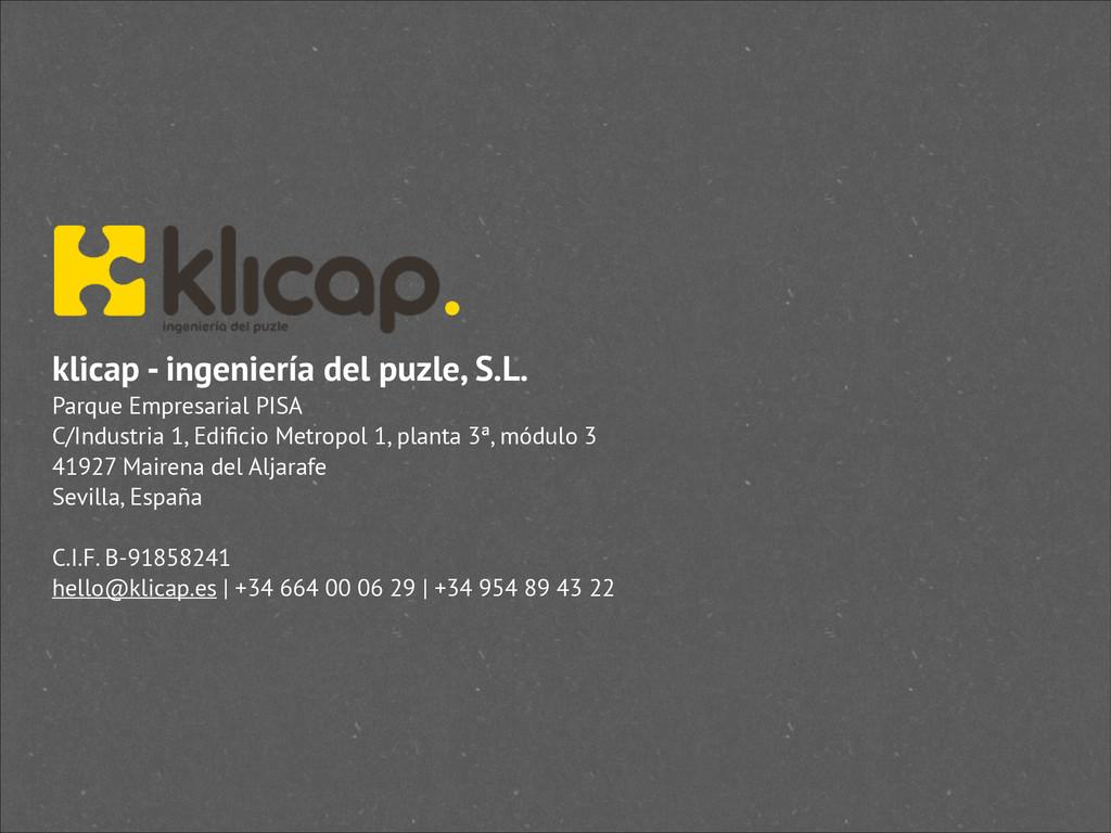 klicap - ingeniería del puzle, S.L. Parque Empr...