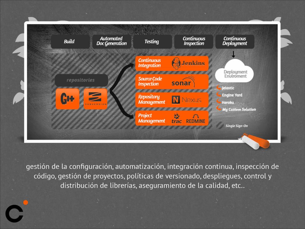 gestión de la configuración, automatización, int...
