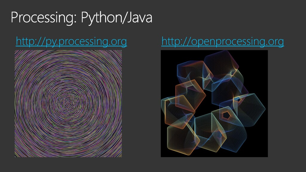 http://py.processing.org http://openprocessing....
