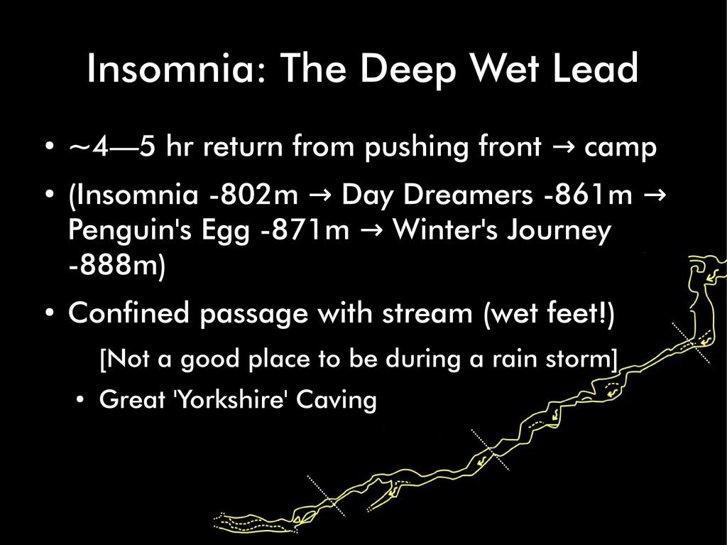 Insomnia: The Deep Wet Lead ● ~4—5 hr return fr...