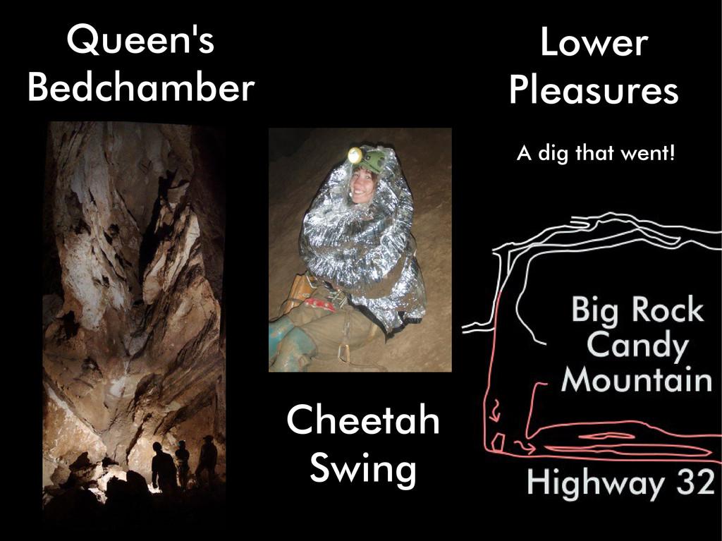 Lower Pleasures A dig that went! Queen's Bedcha...