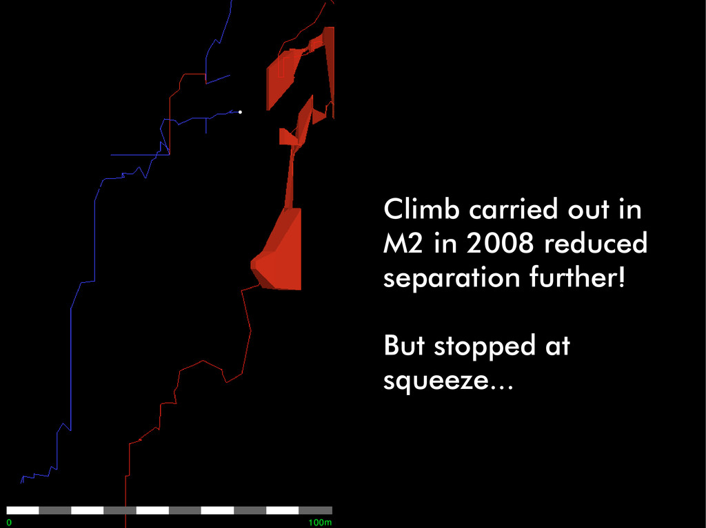 Climb carried out in M2 in 2008 reduced separat...