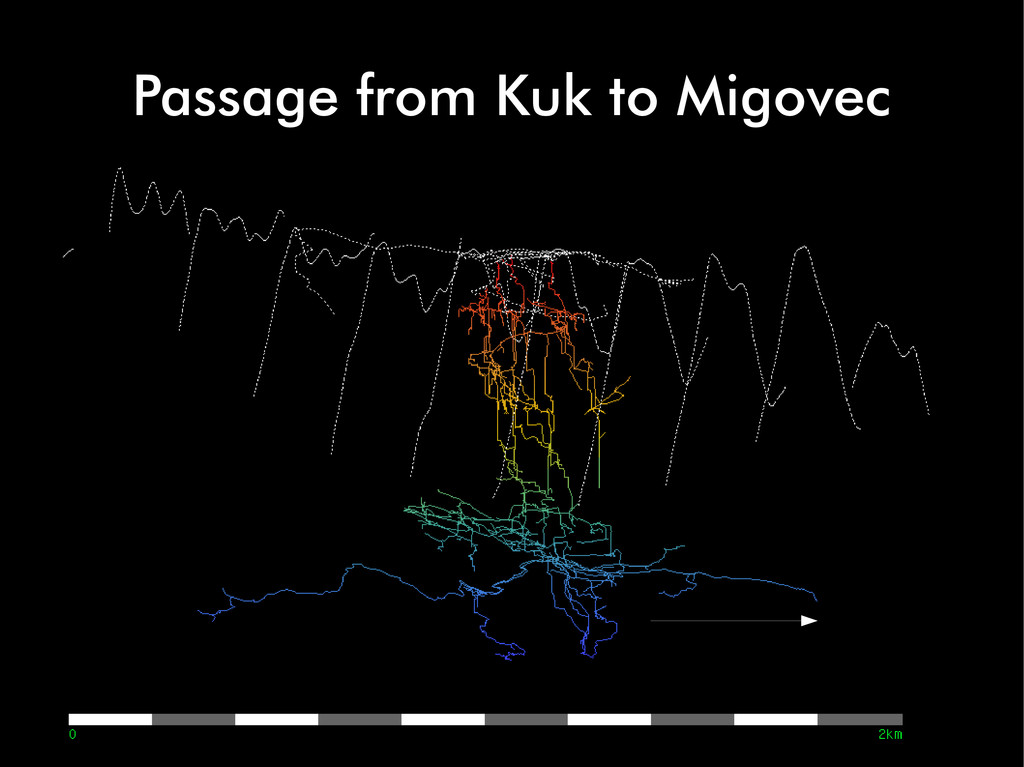 Passage from Kuk to Migovec
