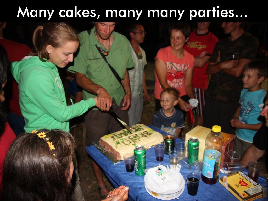 Many cakes, many many parties...