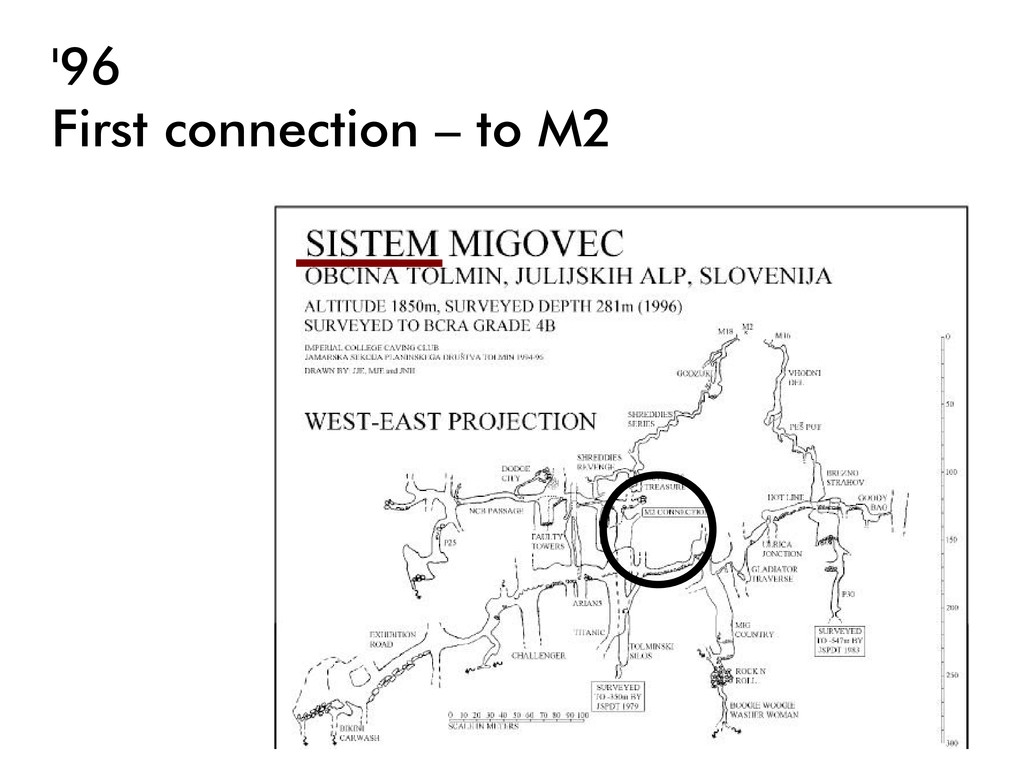 '96 First connection – to M2