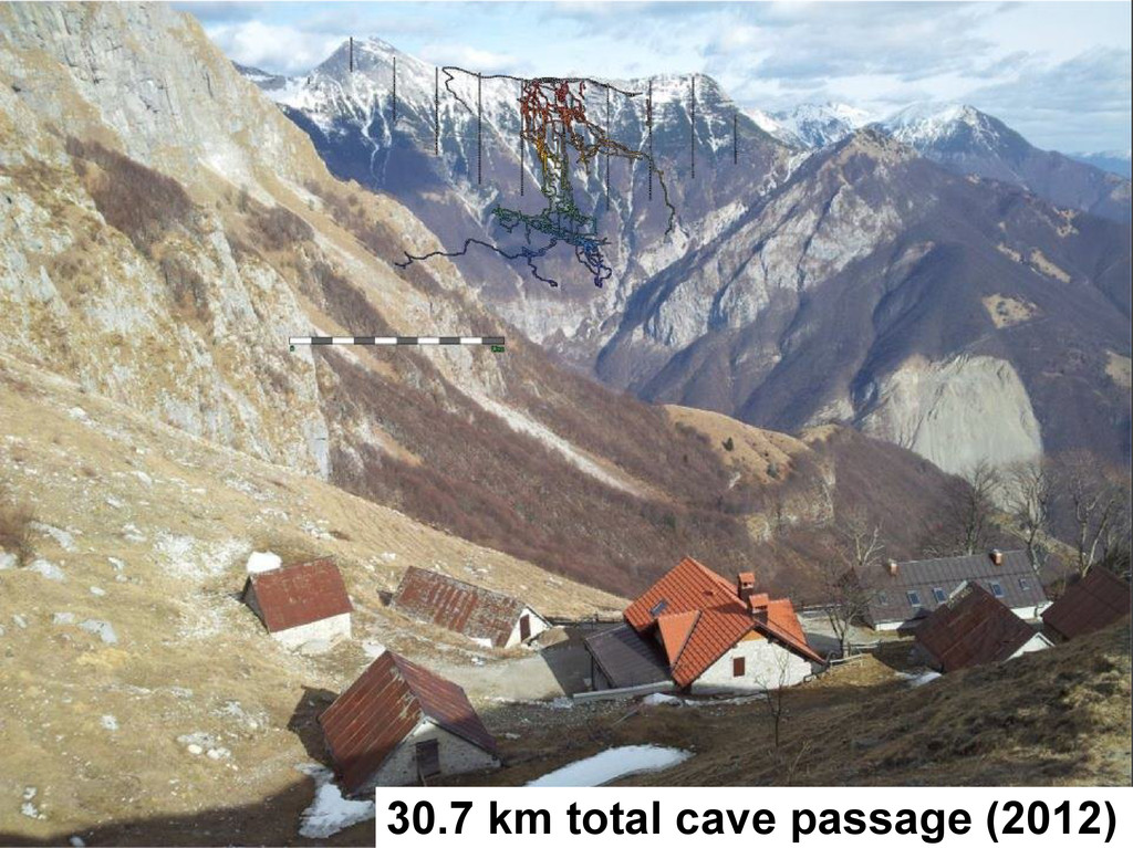 30.7 km total cave passage (2012)