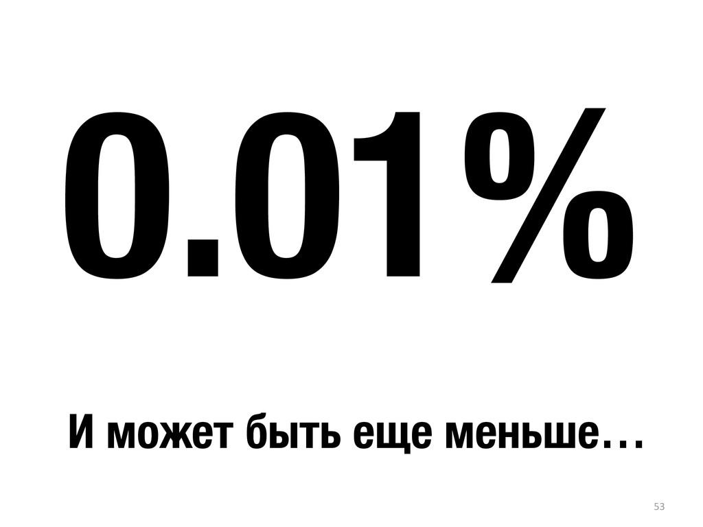 53 0.01% И может быть еще меньше…