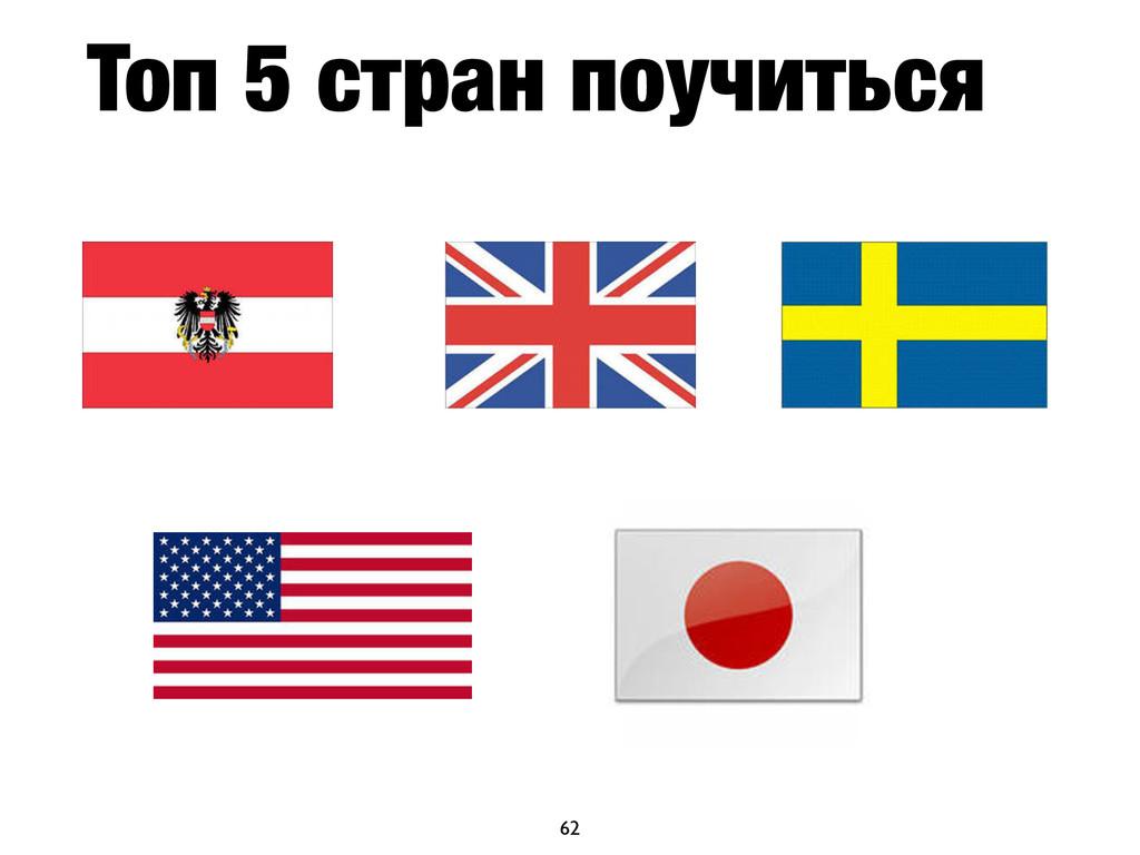 Топ 5 стран поучиться 62