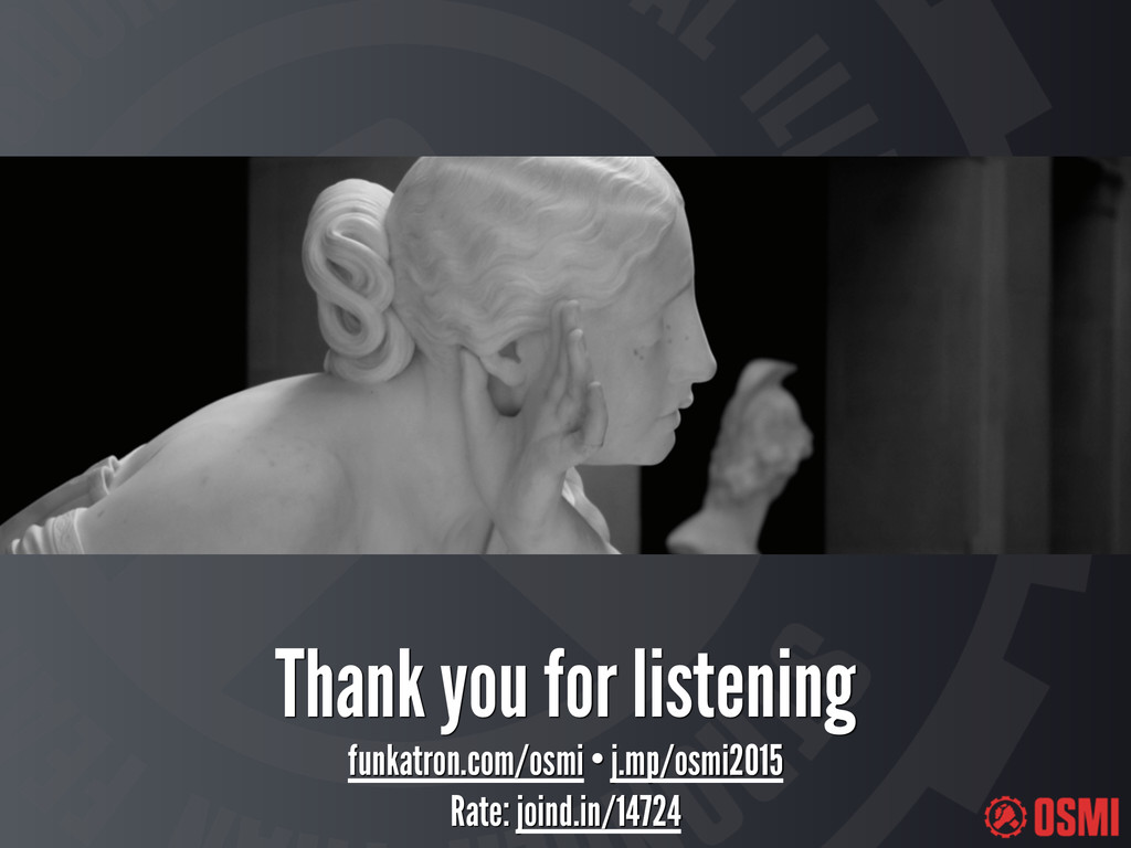 Thank you for listening funkatron.com/osmi • j....