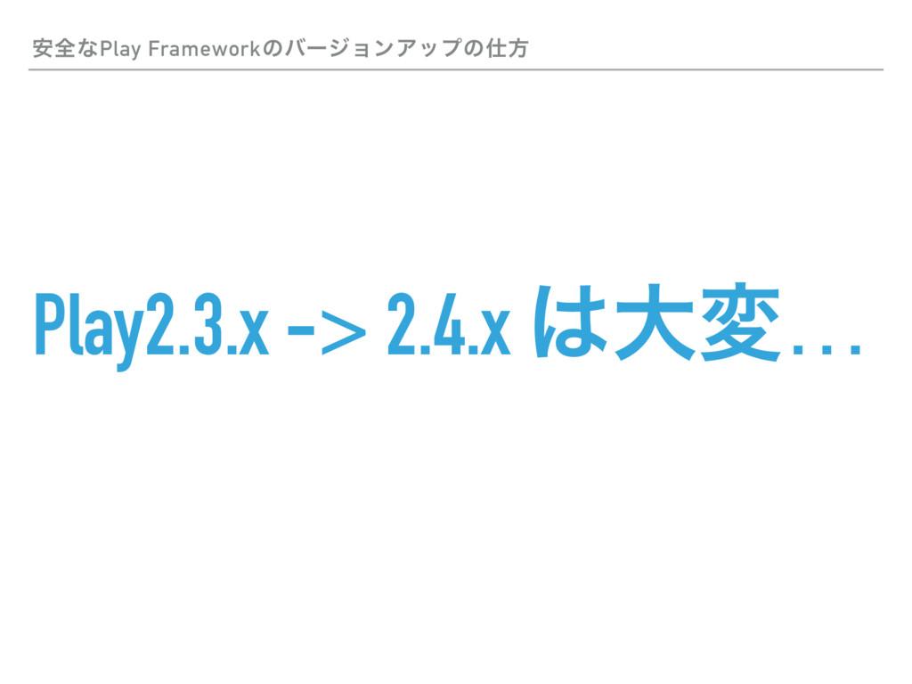 Play2.3.x -> 2.4.x େม… ҆શͳPlay Frameworkͷόʔδϣϯ...