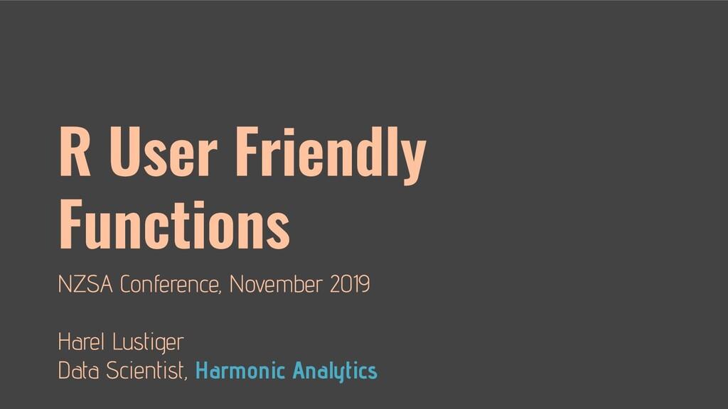 Harmonic Analytics