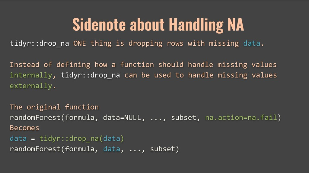 tidyr::drop_na ONE thing is dropping rows with ...