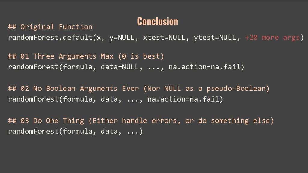 ## Original Function randomForest.default(x, y=...