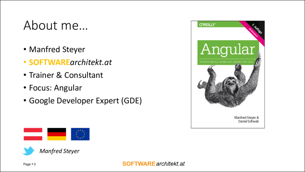 About me… • Manfred Steyer • SOFTWAREarchitekt....