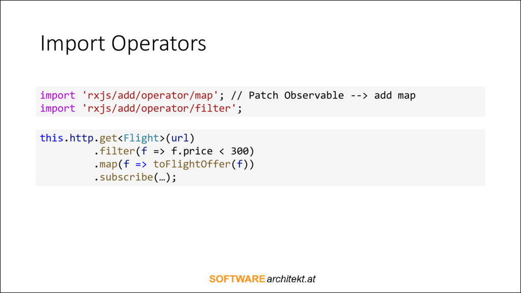 Import Operators import 'rxjs/add/operator/map'...